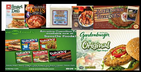 Imagenes de algunos productos q sustituyen la carnes